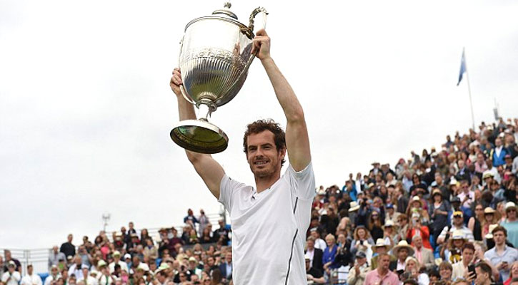 Murray Celebrates Record Title before Wimbledon