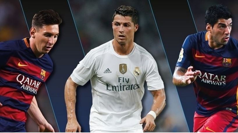 Messi-Ronaldo-Suarez on Player of the Year Short List