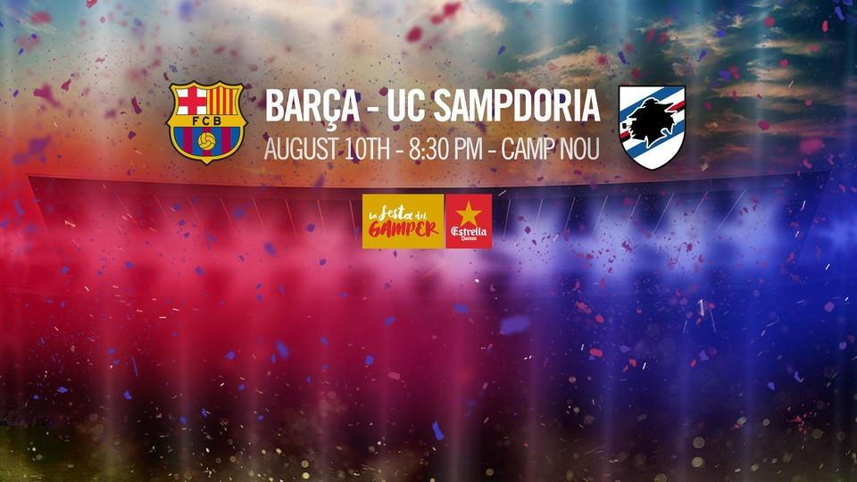 Sampdoria is the Barcelona's Opponent at Gamper Trophy