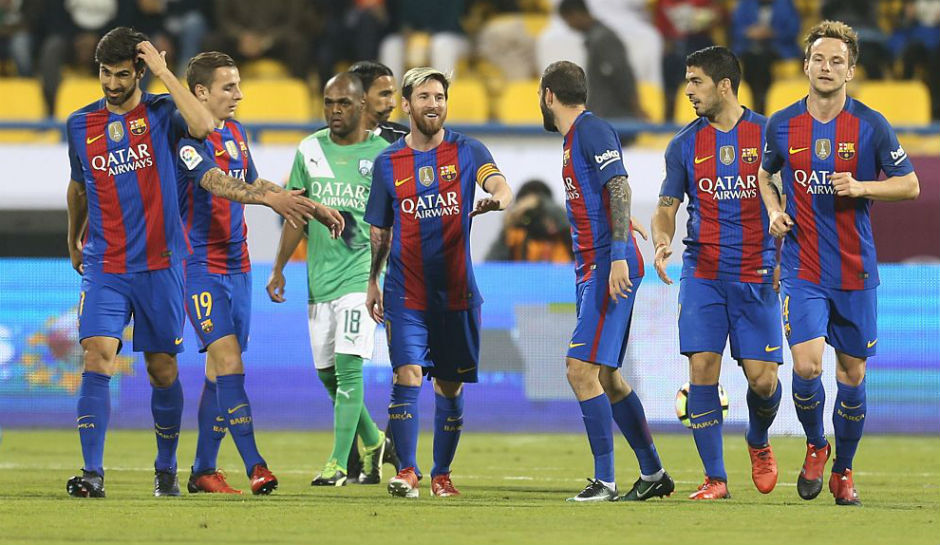 Barca won by Messi magic, Suarez netted twice