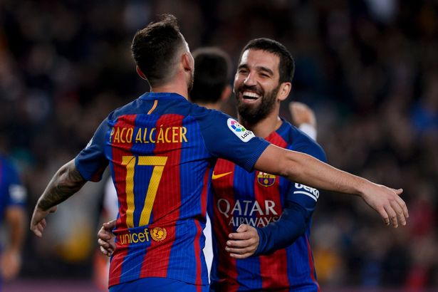 Hercules blown away by Barcelona, Arda Turan made hat - trick