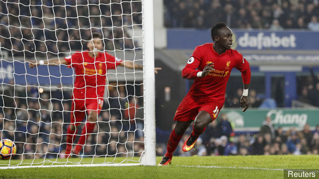 Liverpool won over Everton by Sadio Mane at last moment