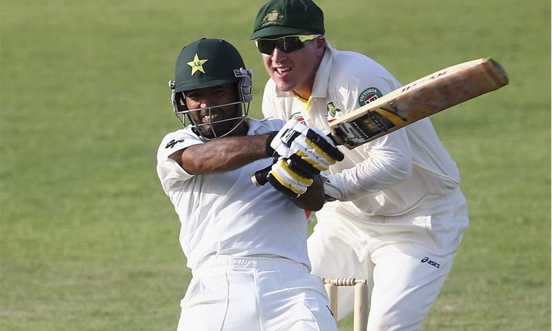 Pakistan knuckle down in fight to save pink-ball Test