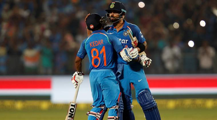 India successfully chasing down 351 runs against England in Pune