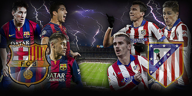 Barcelona vs Atletico Madrid copa del rey
