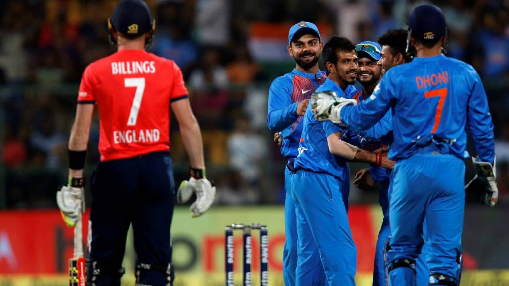 English team was defeated by 75 runs at Bangalore