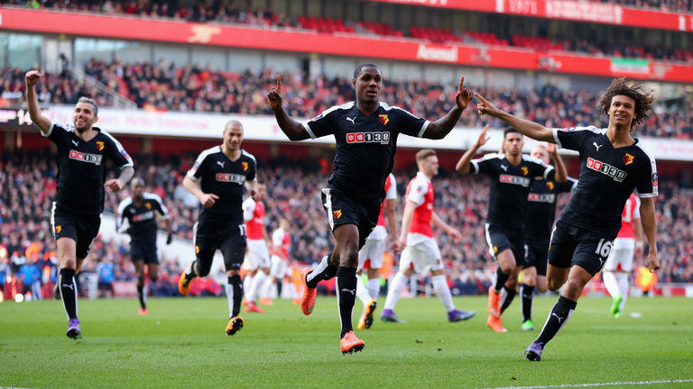 Watford made history by defeating Arsenal at Emirates Stadium