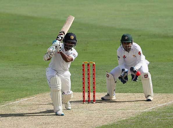 Sri Lanka scored huge runs in 2nd Test at Dubai