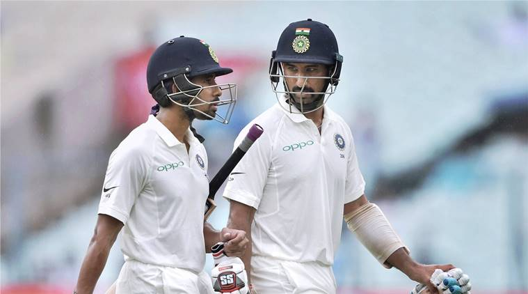 India suffer batting collapse in the 1st innings against the Lions