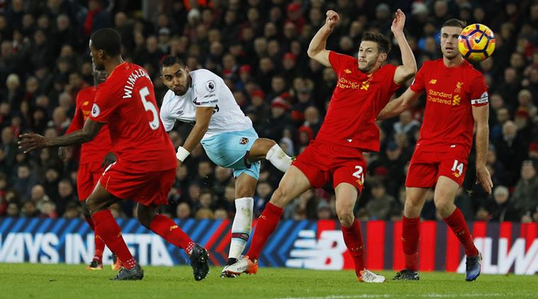 Liverpool beat West Ham by 4 - 1 in EPL