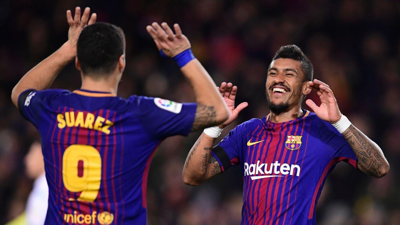 Barcelona beat Deportivo at Camp Nou