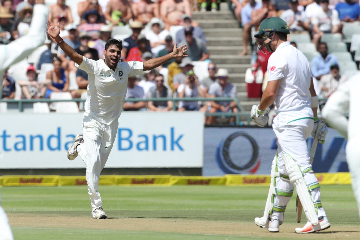 South Africa scored 286 runs in 1st innings at Cape Town