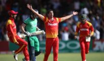 Ireland faced batting collapsed against Zimbabwe
