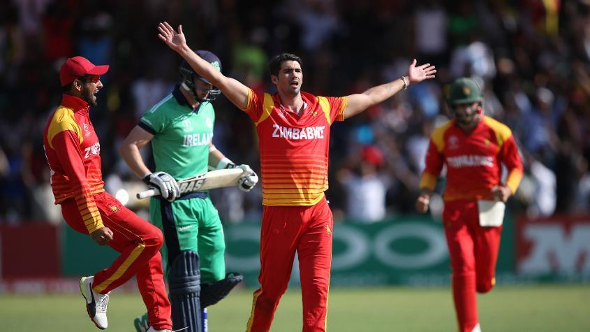Ireland faced batting collapsed against Zimbabwe
