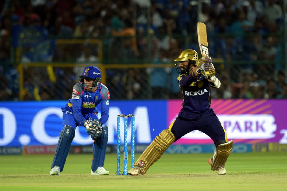 Kolkata Knight Riders managed victory against RR
