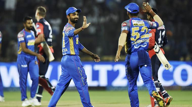 Rajasthan Royals won by 10 runs against Delhi