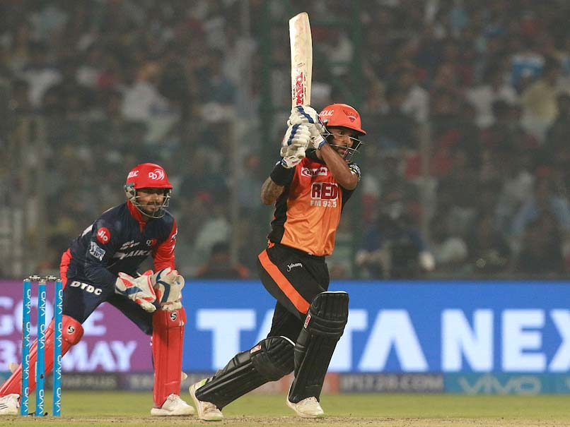 Shikhar Dhawan led SRH to victory at Delhi
