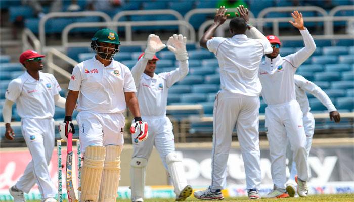 West Indies won Test series against Bangladesh