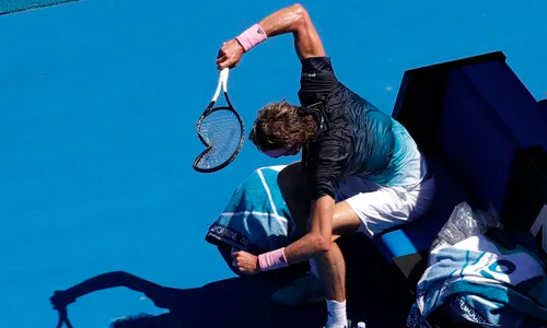 Germany's Alexander Zverev exits Australian Open in meltdown