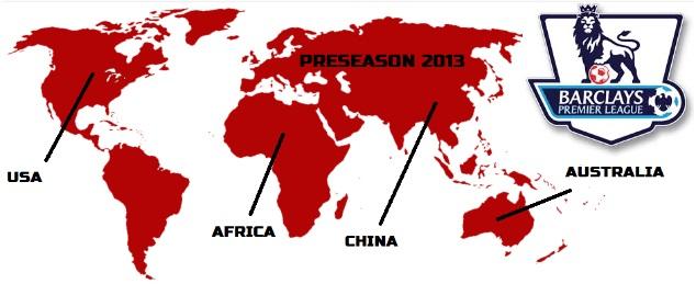 Premier League pre season 2013-2014 results