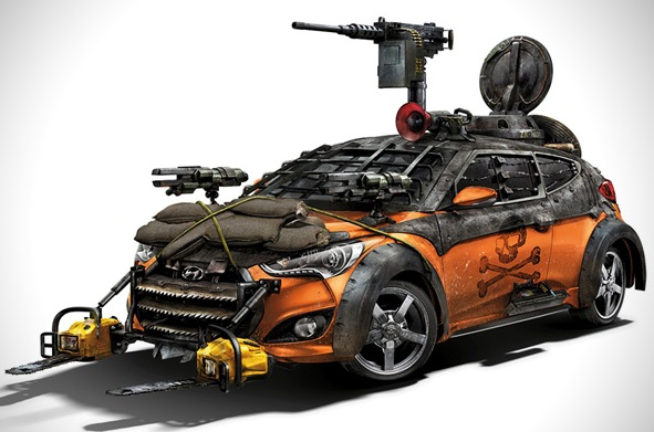 2013 Hyundai Zombie Survival car