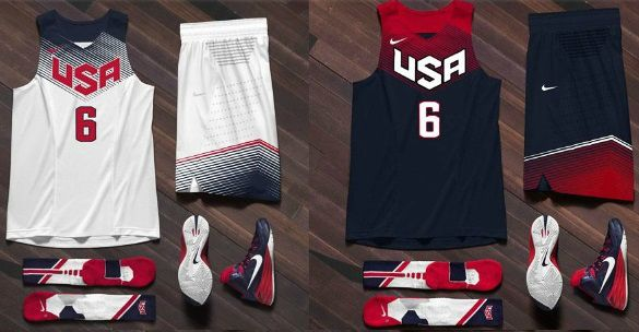 USA Basketball Fiba 2014 Jerseys