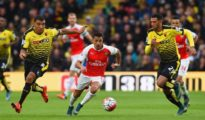 Arsenal faced defeat against Watford at Vicarage Road