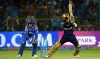 Kolkata Knight Riders managed victory against RR